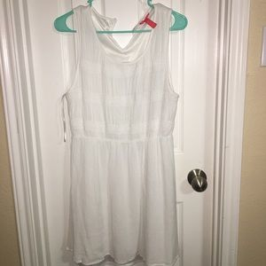 Casual white dress